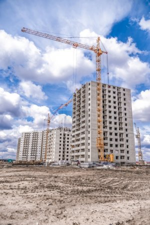 Construction machinery and residential development