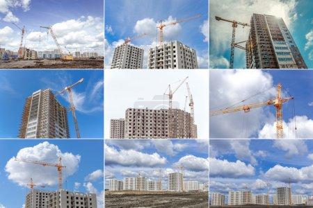 Building activity and industrial cranes