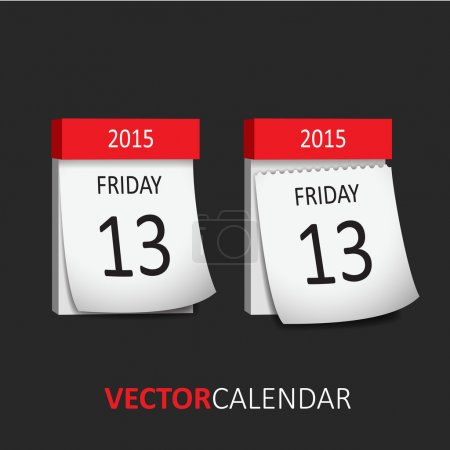Tear-off Calendar - Friday 13