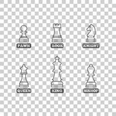 Chess figures vector illustration