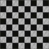 Seamless texture chessboard of sketched of black and white squares vector illustration