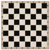Chess board with a marking vector illustration