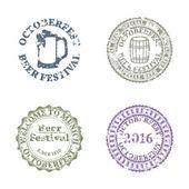 Emblem Oktoberfest Set vector illustration