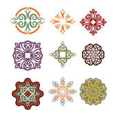 Kazakh ornament set of elements Ethnic pattern Kazakhstan nati