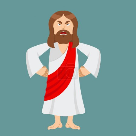 Angry Jesus. Jesus is not satisfied. Angered by Jesus Christ. Go