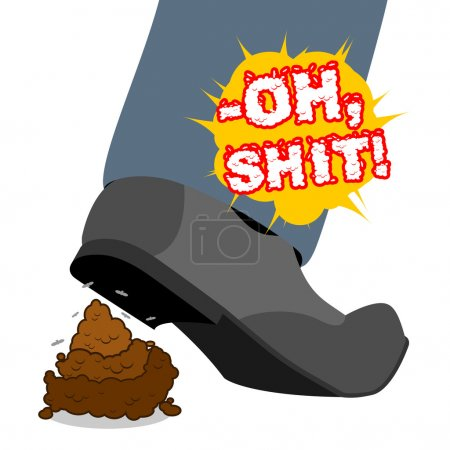 Oh shit. Stepping Shit .piece of turd. Shoes and brown poop. Spo