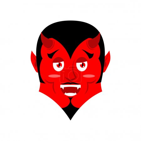 Red Devil Funny demon Satan