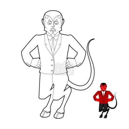 Дьявол раскраска Демон