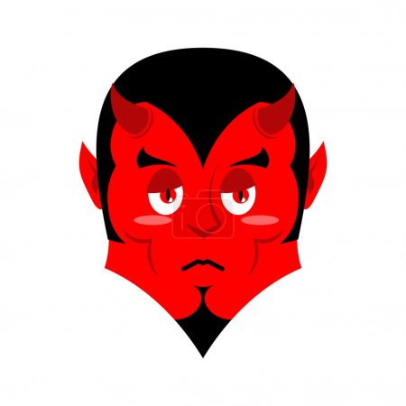 Sad Satan Sorrowful red devil
