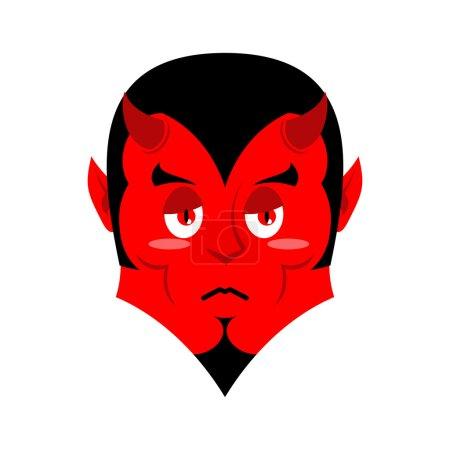 Грустный Сатана скорбный красный дьявол