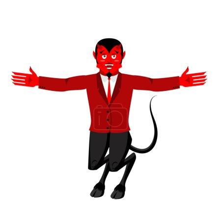 Красный дьявол забавный демон Сатана