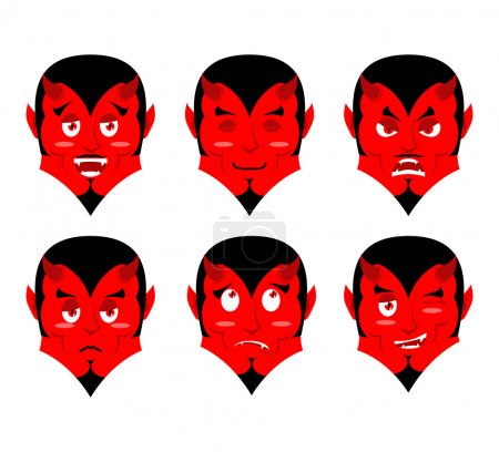 Emotions devil Set expressions avatar