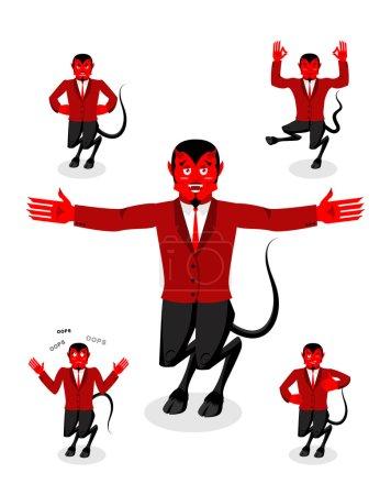 Набор дьявола позы Сатана