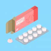 Breast augmentation pills in pack Hooters tablets Tablets in b