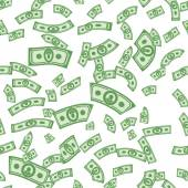 Money patterns seamless money background from dollars
