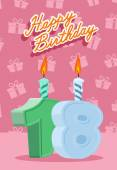 Happy Birthday Age 18 Announcement and Celebration Message Post