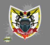 Paintball logo emblem paintball guns and Wings Mortal Heraldry