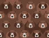 flock of bears Seamless pattern of animals Vector background