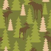 Army pattern of deer and forest Military camouflage texture Vec