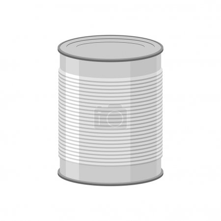 Illustration for Cans for canned food on white background. Tin vector illustratio - Royalty Free Image