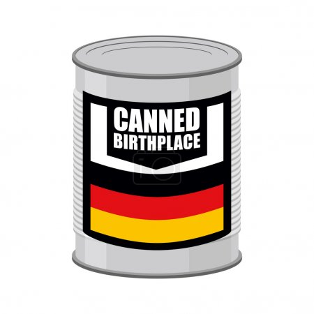 Canned birthplace. Patriotic Preserved birthplace. Part of mothe