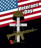 Day of remembrance for war veterans Veterans Day Cross with  s
