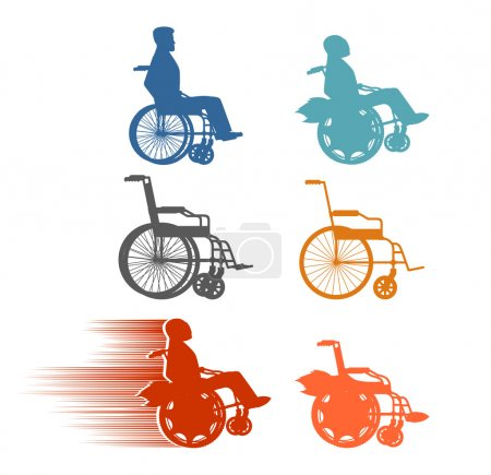 Set invalid. Collection of silhouettes of various disabilities a