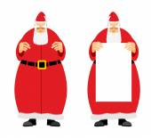 Santa Claus holding blank Grandfather with a grey beard fairyt