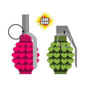 Love bomb Hand grenade from  hearts Pink military projectile h