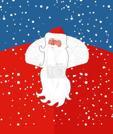 Russian Sana Claus. New years grandfather from Russia. Christmas