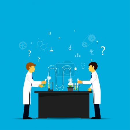 Process Research in a chemical laboratory.