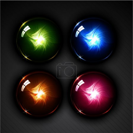 Glowing magic ball set