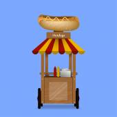 Illustration of a hotdog stand