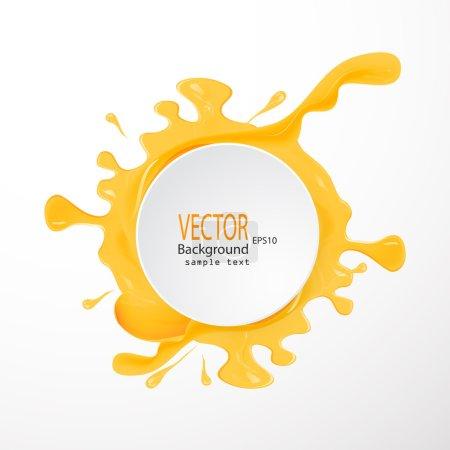 Illustration pour Un ensemble de taches vectorielles de miel goutte sur fond blanc - image libre de droit