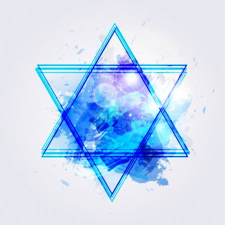 pained star of David