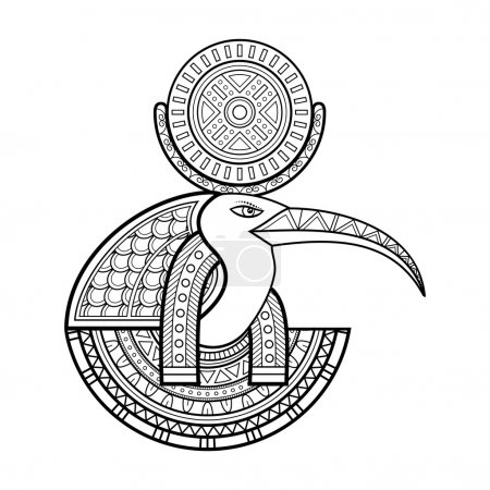 Vector God of ancient Egypt. Thoth...