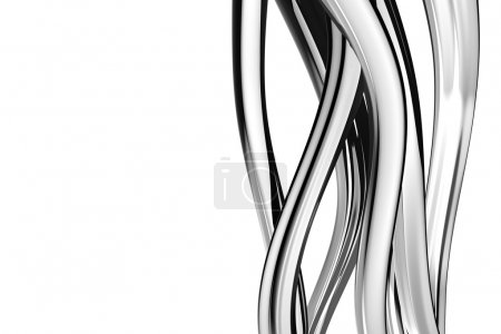 Twisted black and white elements