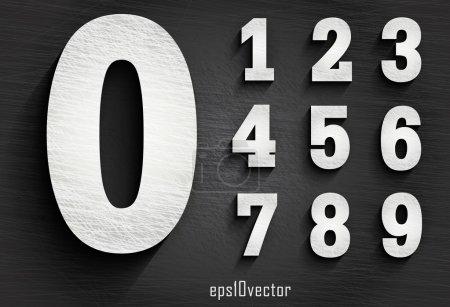 stylish white squared shabby numerals.