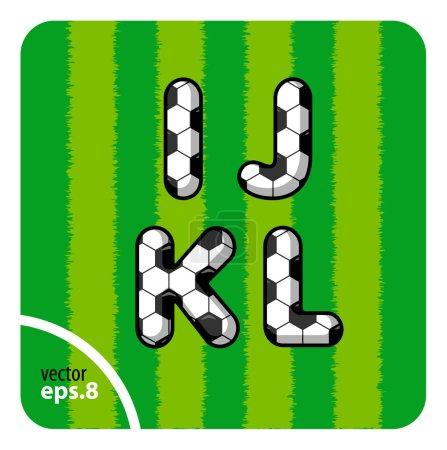 Football letters I, J, K, L