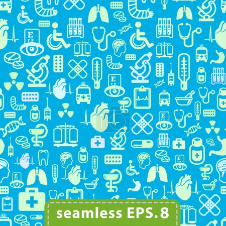 medical icons seamless