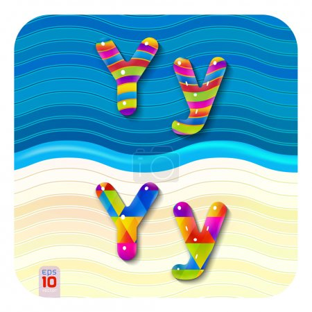 Multicolored letters Y