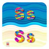 Multicolored letters S