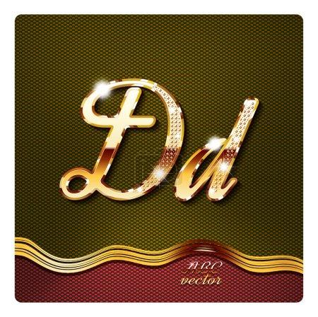 Gold cursive letters D