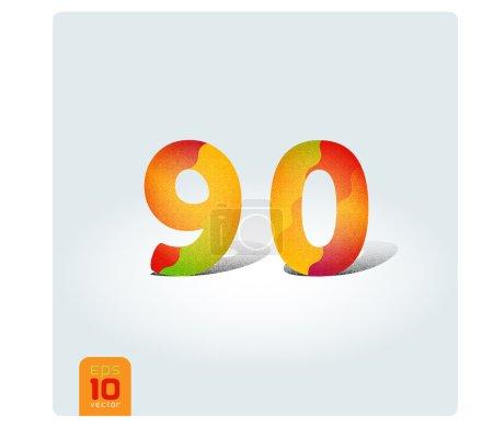 Digits 9 (nine), 0 (zero)