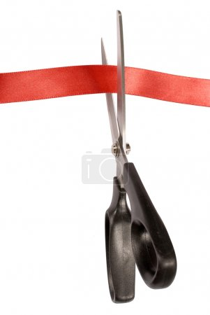 Scissors with red tape