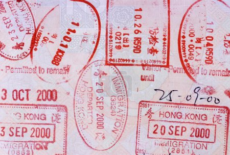 Asian passport page