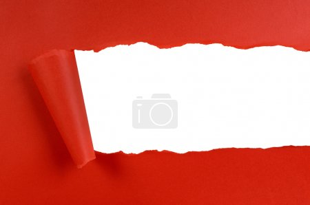 Torn red background paper...