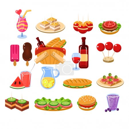 Picnic Food And Drink Set