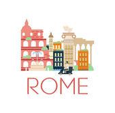 Klasické Toristic scenérie Řím