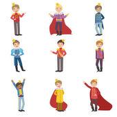 Little Boys Dressed As Fairy Tale Princes